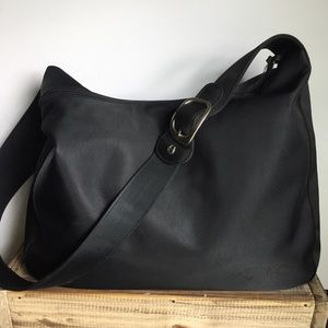 Aigner Black nylon Canvas large tote bag vintage